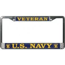 US Navy Veteran License Plate Frame