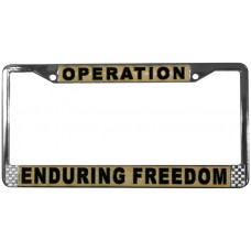 Operation Enduring Freedom License Plate Frame