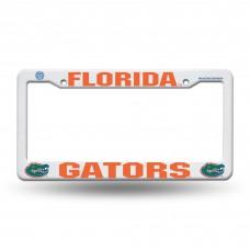 Florida Orange Plastic License Plate Frame