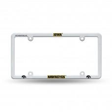 Iowa Hawkeyes White EZ View Plastic License Plate Frame