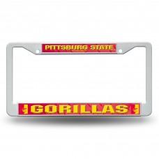 Pittsburg State Plastic License Plate Frame