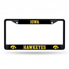 Iowa Hawkeyes Black Chrome License Plate Frame