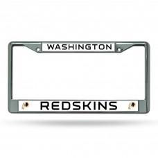 redskins chrome license plate frame
