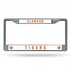 Clemson Chrome License Plate Frame