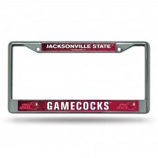 Jacksonville State Chrome License Plate Frame