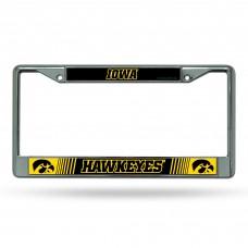 Iowa Hawkeye Chrome License Plate Frame