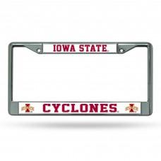Iowa State Chrome License Plate Frame