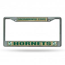 Sacramento State Chrome License Plate Frame