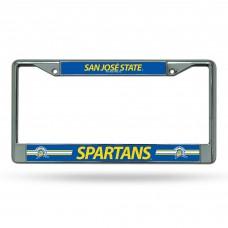 San Jose State Chrome License Plate Frame