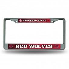 Arkansas State Red Wolves Chrome License Plate Frame