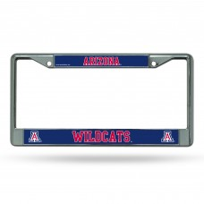 Arizona Wildcats Blue on Chrome License Plate Frame