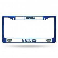 Florida Blue Colored Chrome License Plate Frame
