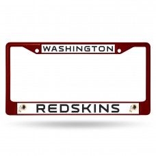 redskins maroon colored chrome license plate frame