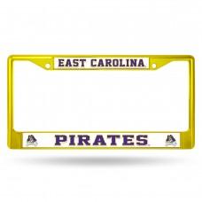 East Carolina Gold Colored Chrome License Plate Frame