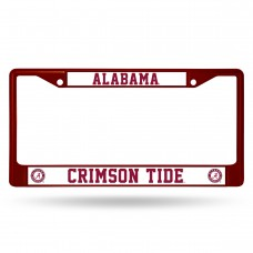Alabama Crimson Tide Maroon Colored Chrome License Plate Frame