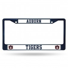 Auburn Tigers Navy Blue Colored Chrome License Plate Frame