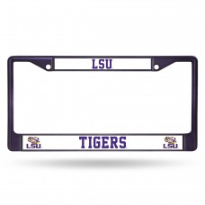 LSU Purple Colored Chrome License Plate Frame