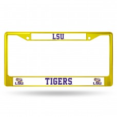 LSU Yellow Colored Chrome License Plate Frame
