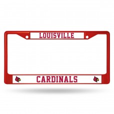 Louisville Red Colored Chrome License Plate Frame