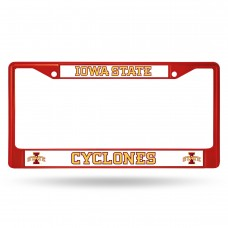 Iowa State Red Colored Chrome License Plate Frame