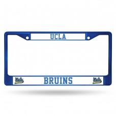 ucla blue colored chrome license plate frame
