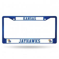Kansas Blue Colored Chrome License Plate Frame