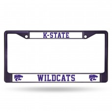 Kansas State Purple Colored Chrome License Plate Frame