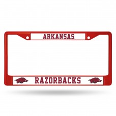 Arkansas Razorbacks Red Colored Chrome License Plate Frame