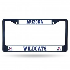 Arizona Wildcats Navy Blue Colored Chrome License Plate Frame