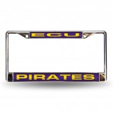 East Carolina Purple Laser Chrome License Plate Frame