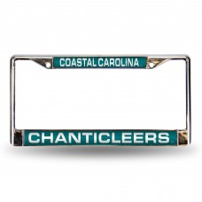Coastal Carolina Laser Chrome License Plate Frame