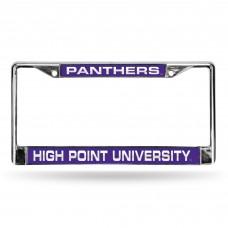 High Point Laser Chrome License Plate Frame