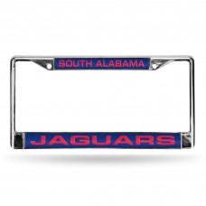 South Alabama Laser Chrome License Plate Frame