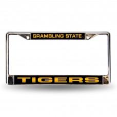 Grambling St Laser Chrome License Plate Frame