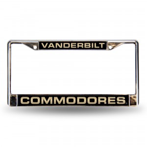 Vanderbilt Black Laser Chrome Tennessee License Plate Frame