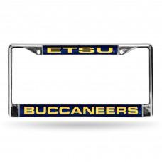 East Tennessee St Laser Chrome License Plate Frame