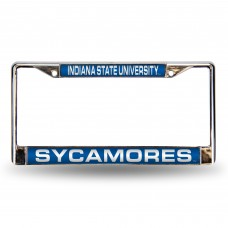 Indiana State Laser Chrome License Plate Frame