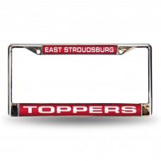 East Stroudsburg Laser Chrome License Plate Frame