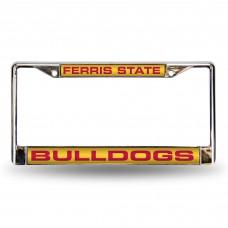 Ferris St Red Laser Chrome License Plate Frame