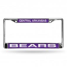 Central Arkansas Laser Chrome License Plate Frame