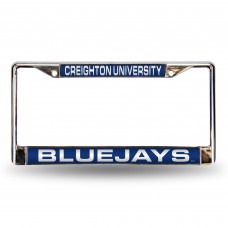 Creighton Laser Chrome License Plate Frame
