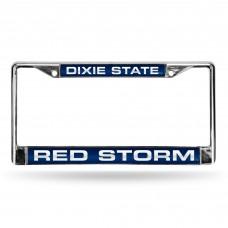 Dixie State University Laser Chrome License Plate Frame