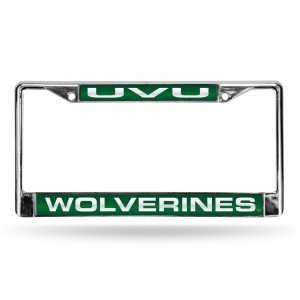 Utah Valley State Laser Chrome Utah License Plates Frame