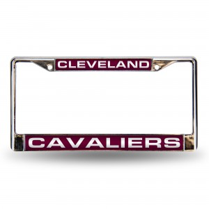 Cleveland Cavaliers Red Laser Chrome Ohio License Plate Frame