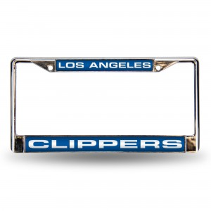 Los Angeles Clippers Blue Laser Chrome License Plate Frame