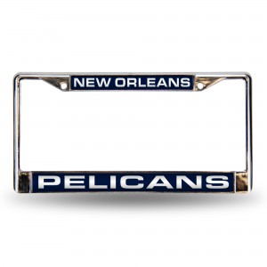 New Orleans Pelicans Laser Chrome Louisiana License Plates Frame
