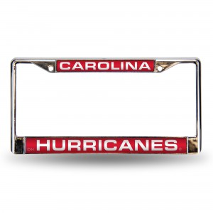 Carolina Hurricanes Red Laser Chrome NC License Plate Frame