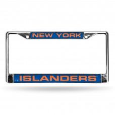 NEW YORK ISLANDERS BLUE LASER CHROME FRAME