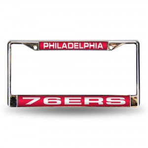 Philadelphia 76ers Red Laser Chrome Pennsylvania License Plates Frame