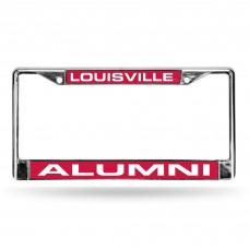 Louisville Alumni Red Laser Chrome License Plate Frame